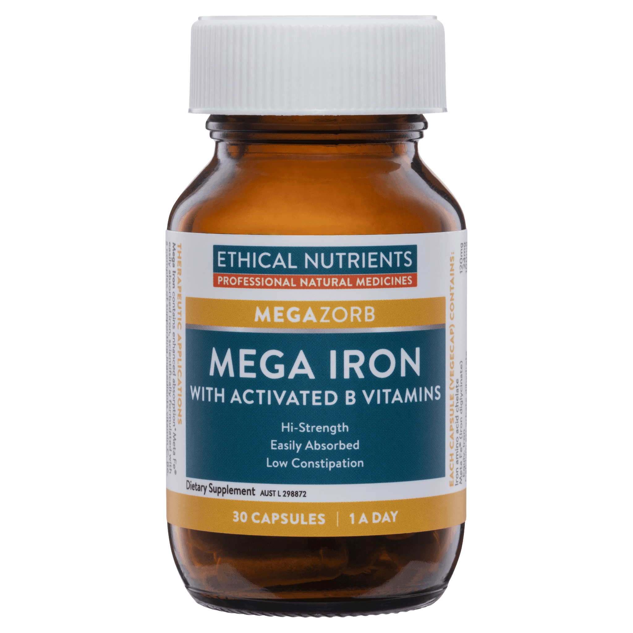 Ethical Nutrients Mega Iron with Activated B's