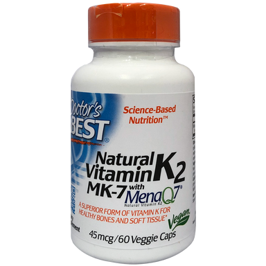 Doctor's Best Natural Vitamin K2 MenaQ7 45mcg