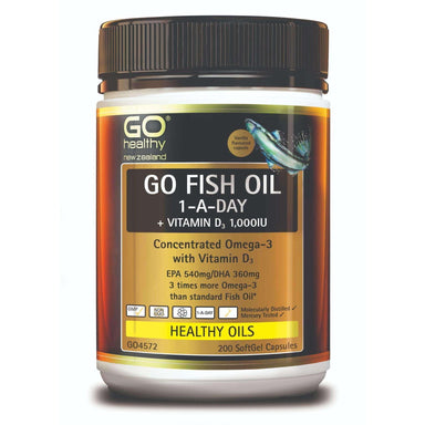 Go Healthy Go Fish Oil 1 A Day + Vit D1000 IU