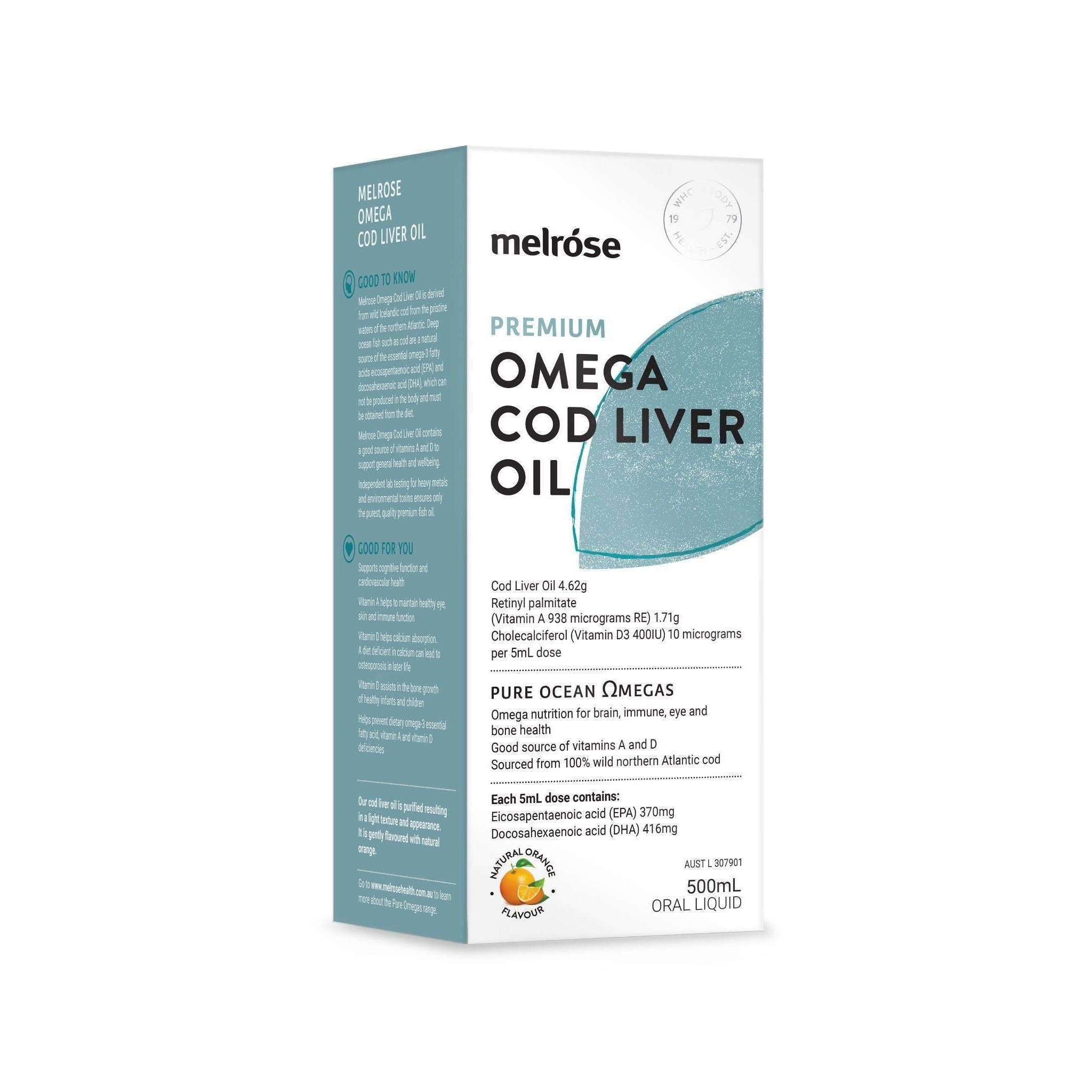 Melrose Cod Liver Oil - Cold Pressed