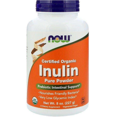 Now Now Inulin Prebiotic FOS Pure Powder