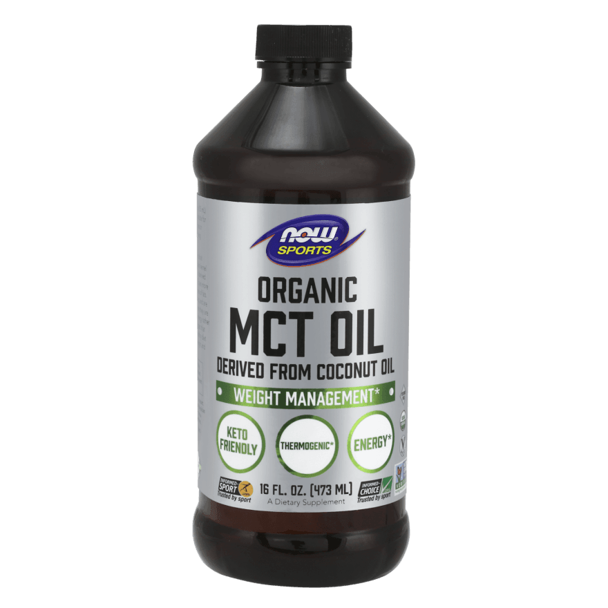Now Organic MCT Oil Derived from Coconut Oil