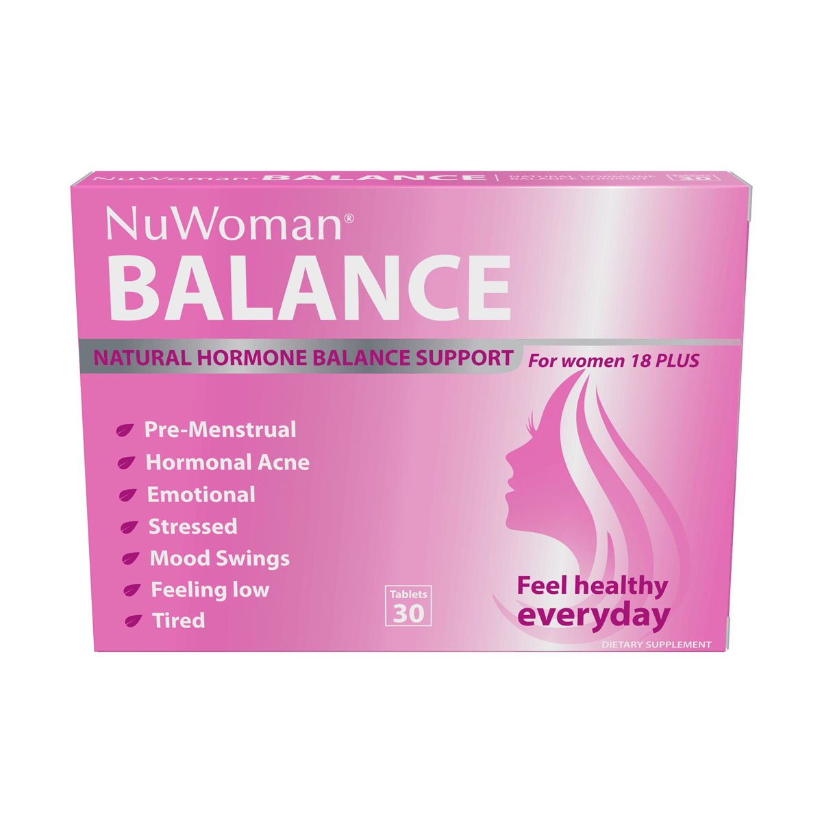 NuWoman® BALANCE Natural Hormone Balance Support for Women 18 PLUS