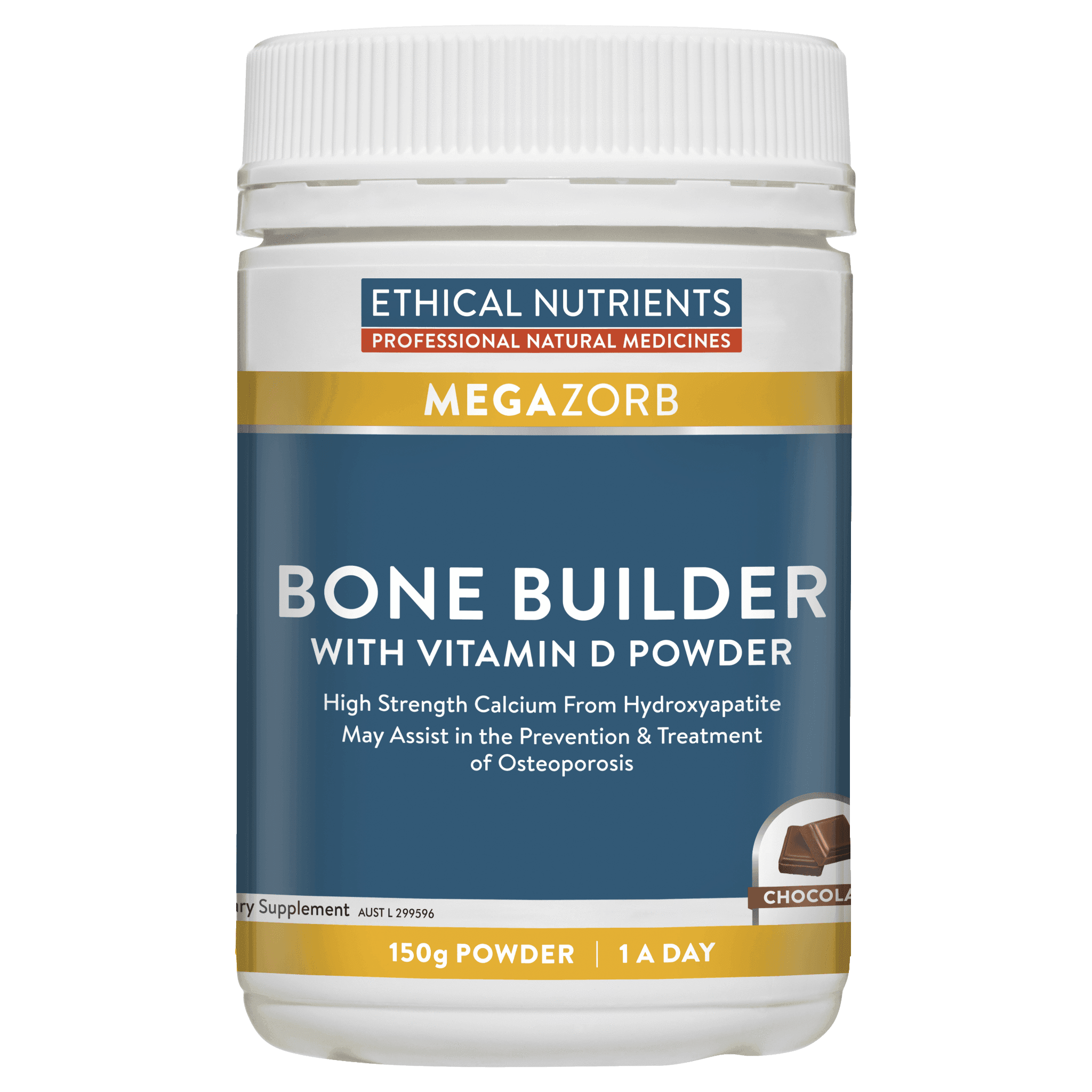 Ethical Nutrients MEGAZORB Bone Builder with Vitamin D 150 gm