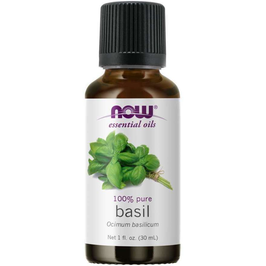 Now Basil Essential Oil (Ocimum Basilicum), 100% Pure