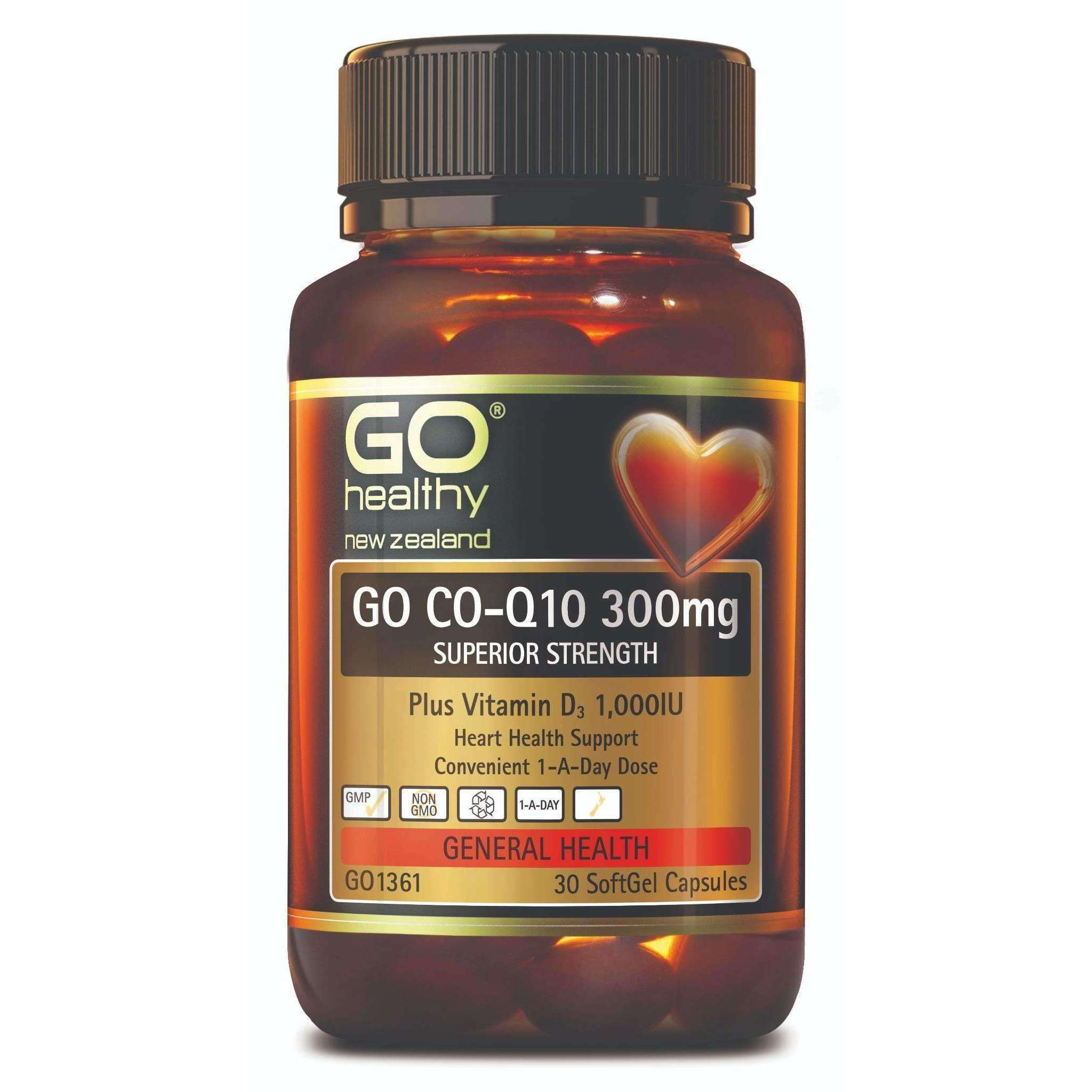 Go Healthy Go Co-Q10 300mg + Vitamin D3