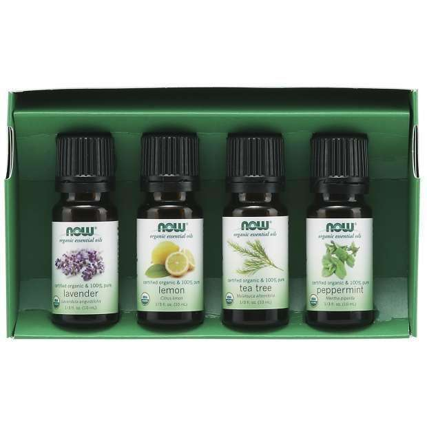 Let It Be Organically, Organic Essential Oils Kit, 4 Bottles, 10ml Each