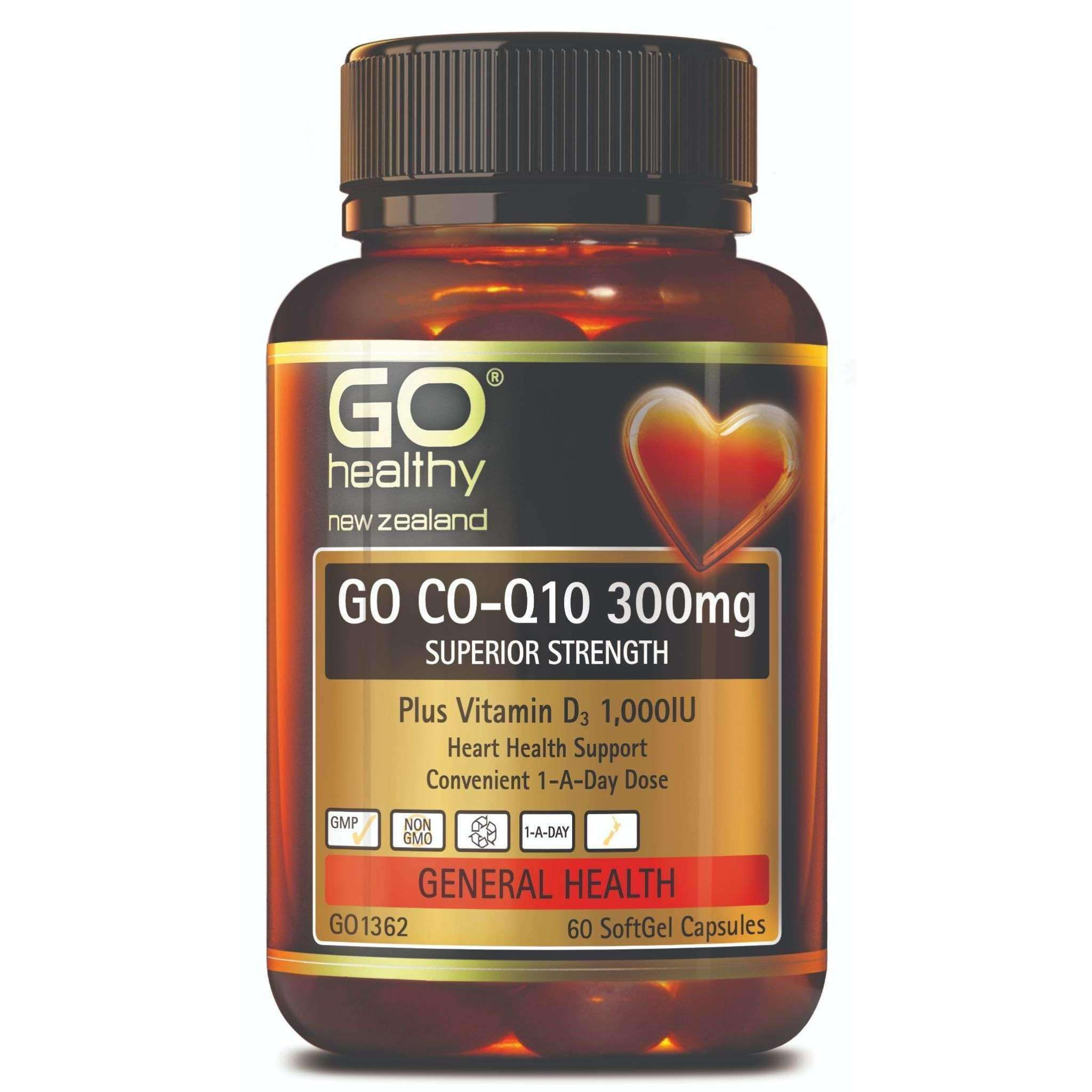 Go Co-Q10 300mg + Vitamin D3