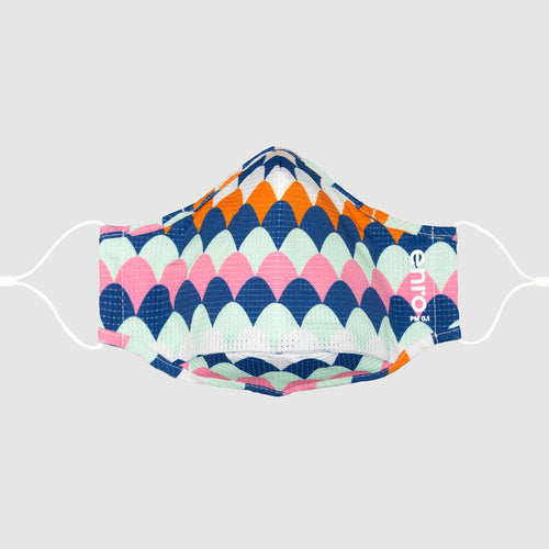 Scallop Rainbow::colorful patterned face mask