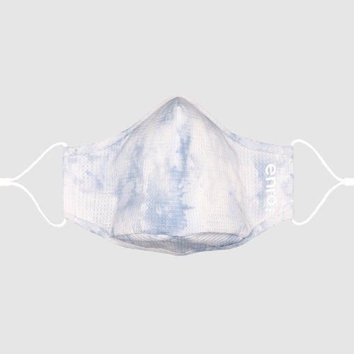 Light Blue Tie Dye::Light blue tie dye face mask