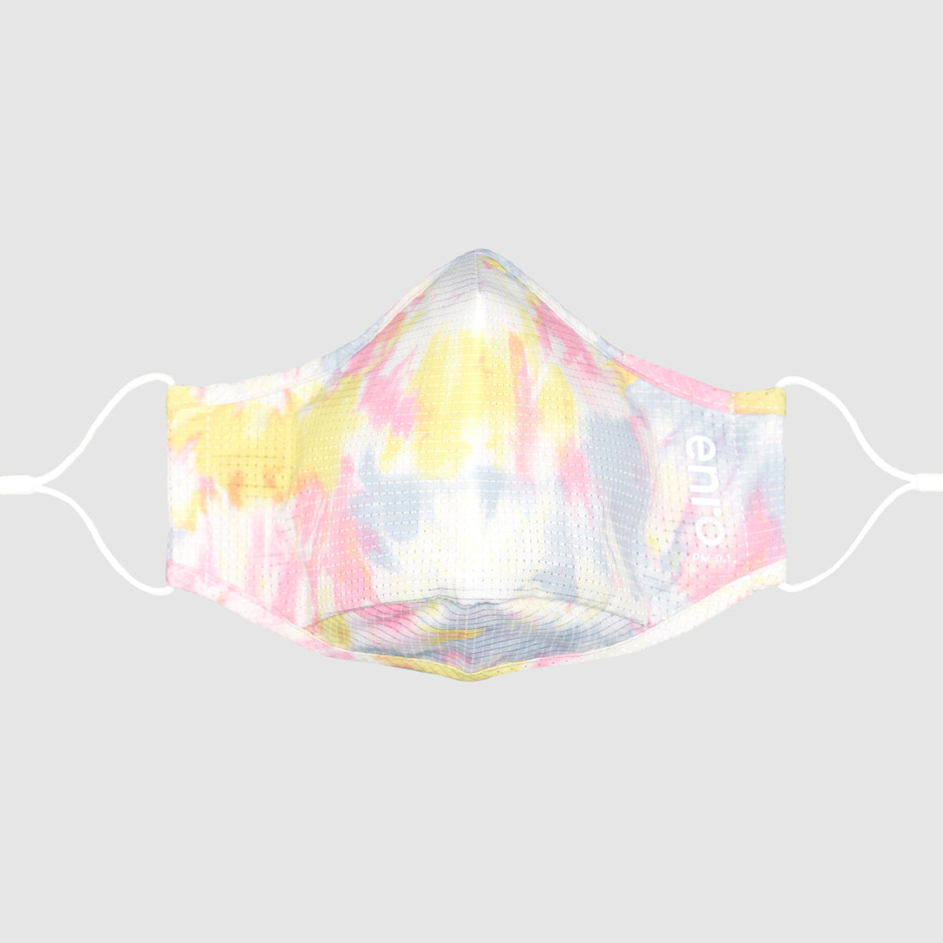 Pastel Mix Tie Dye::Pastel, colorful, tie dye face mask