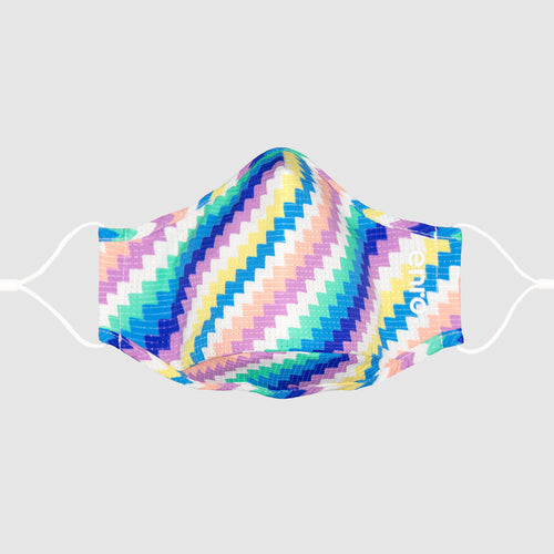 Zigzag Rainbow::colorful face mask