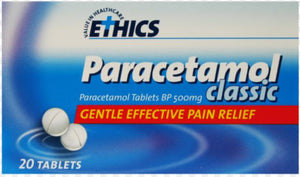 Paracetamol 500mg Tablets 20's