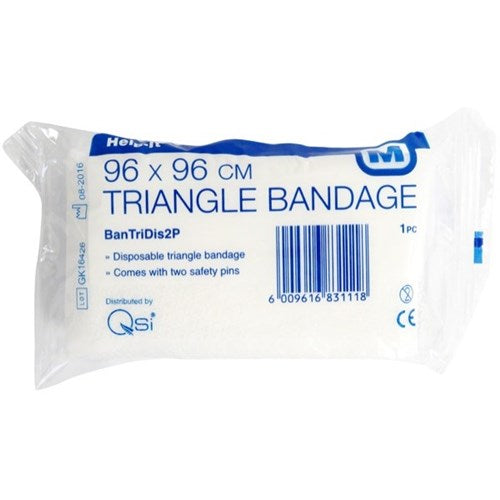 Triangular Bandage 96cm x 96cm w safety pins