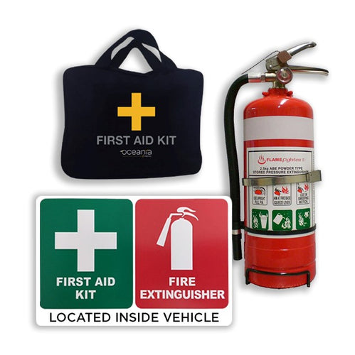 Contractor Vehicle Safety Set Up- Fire & First Aid Kit