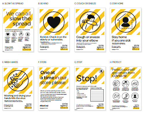 Covid 19- A3 Posters For Workplace - 8 Pack