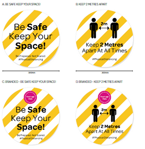 COVID 19 - Workplace Sticker Pack - 8 Pack