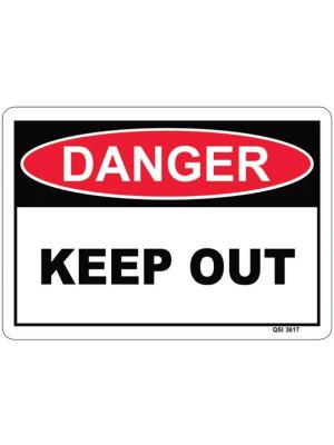 DANGER Workplace Signs- Various
