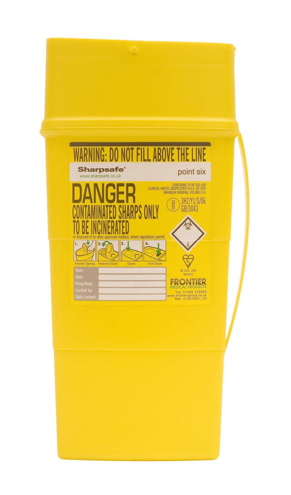 Sharpsafe Community Sharps Container 0.6L