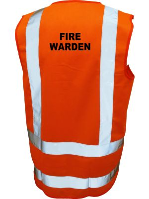 Building Fire Warden High Vis Vest