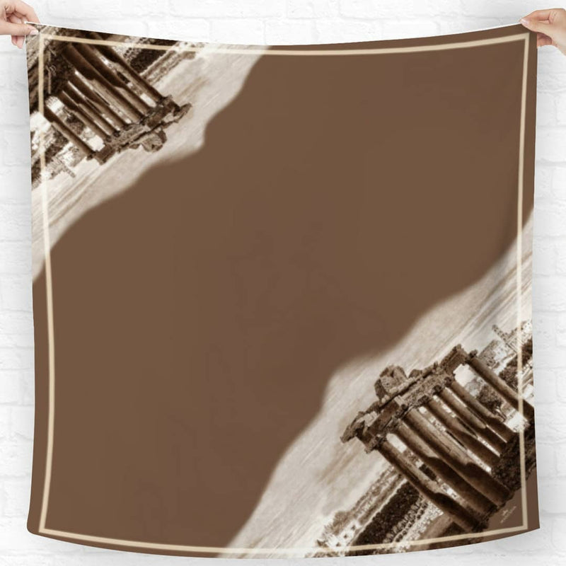 Roma Architecture Brown Scarf