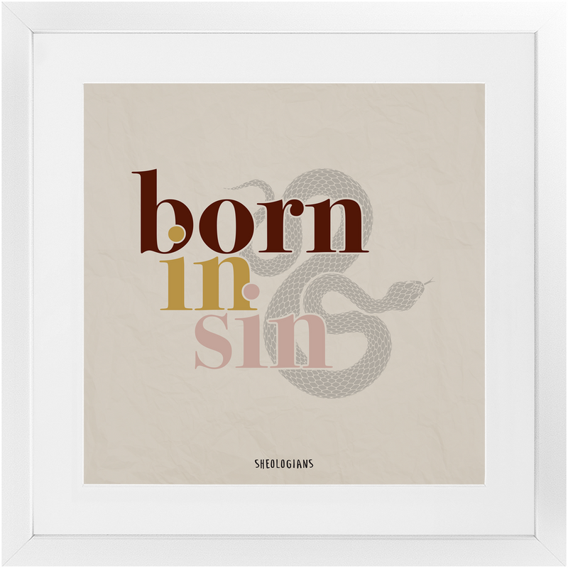 Born In Sin | Fine Art Framed Print