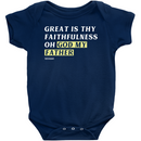 Great Is Thy Faithfulness Oh God My Father | Onesie