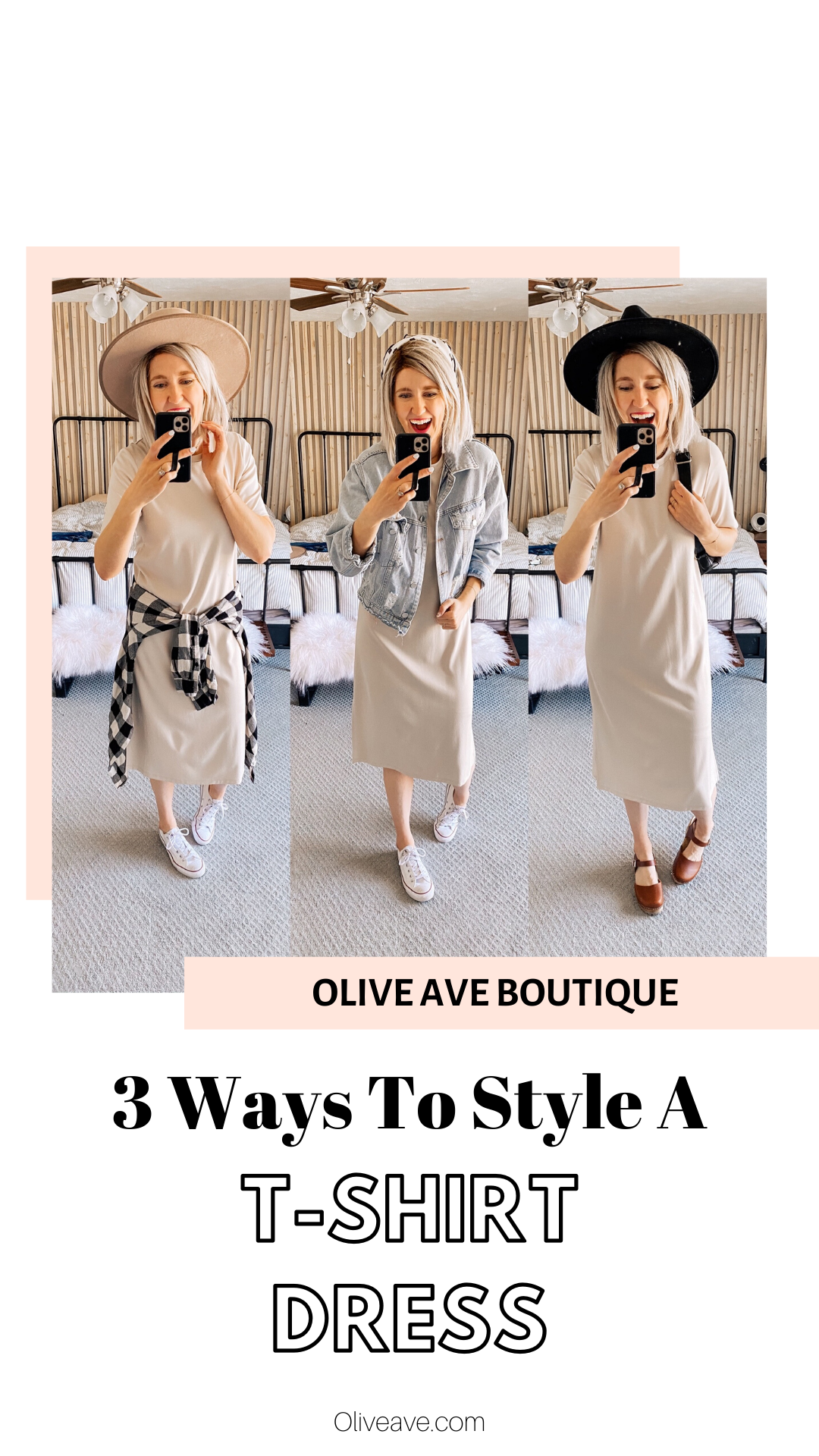 3 Ways to Style A T-Shirt Dress