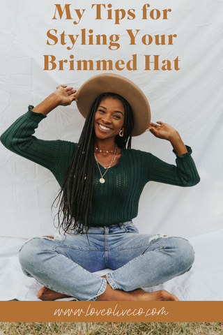 My tips for styling your brimmed hat www.loveoliveco.com/blogs