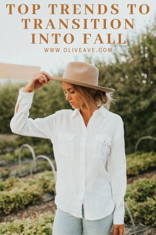 Top trends to transition into fall www.oliveave.com/blogs