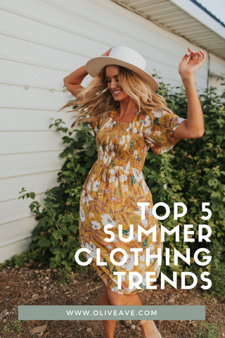 My Top 5 Summer Trends are here! www.OliveAve.com/blogs