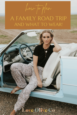 how to dress comfy on your next family road trip loveoliveco.com