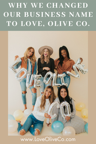Why we changed our name from Olive Ave. to Love, Olive Co.! www.loveoliveco.com
