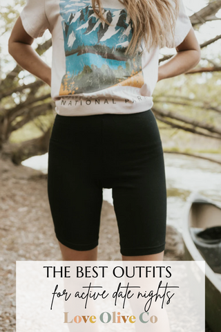 the best outfits to wear for an active date. www.loveoliveco.com