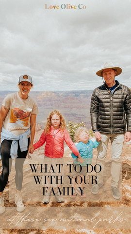 What to do with your family when hiking national parks. www.loveoliveco.com