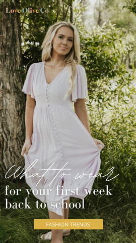 what to wear on your first week back to school. www.loveoliveco.com