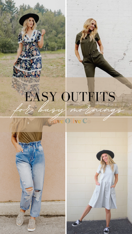 easy outfits for busy mornings. www.loveoliveco.com