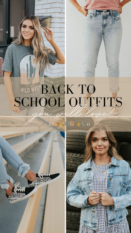 Back to School Outfits you will love. www.loveoliveco.com
