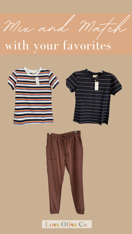Mix and match to make your favorite outfits from this core collection. www.loveoliveco.com