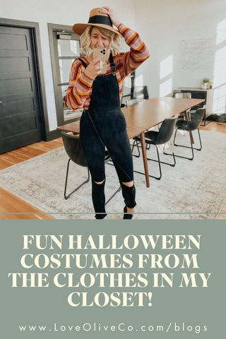 Fun Halloween Costumes from the Clothes in my Closet! www.LoveOliveCo.com/blogs