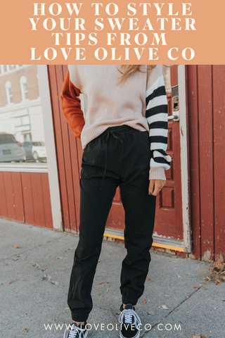 how to style your sweater-tips from love olive co. www.loveoliveco.com