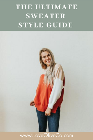 The ultimate sweater style guide. www.loveoliveco.com