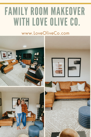 family room makeover with love olive co.  A few simple ideas to makeover your entire family room. www.loveoliveco.com