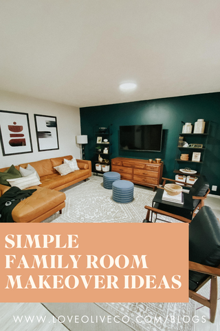 simple family room makeover ideas.  Simple ideas on how to transform your family room.www.loveoliveco.com