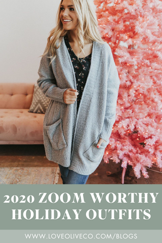2020 Zoom Worthy Holiday Outfits. www.loveoliveco.com
