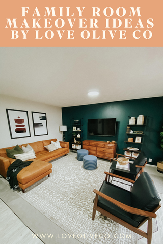 family room makeover ideas with love olive co.  A complete list of ideas on how to update your family room.https://loveoliveco.com/