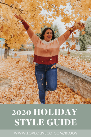 2020 holiday style guide. www.loveoliveco.com