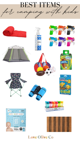 best items to bring on your family camping trip. www.loveoliveco.com