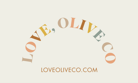 Love, Olive Co. has gift cards for all the gifting you need to do! www.loveoliveco.com
