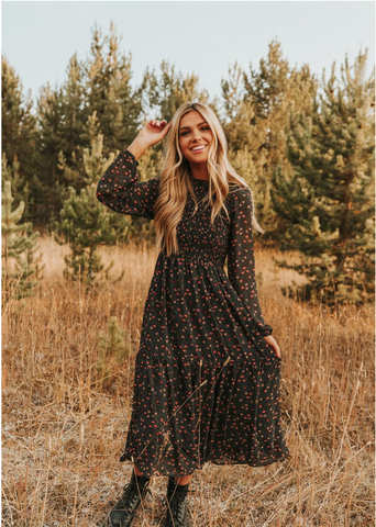 Bohemian chic is the perfect dress style for Thanksgiving. www.loveoliveco.com/blogs